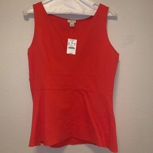 NEW with TAGS!! J Crew Orange Peplum Top